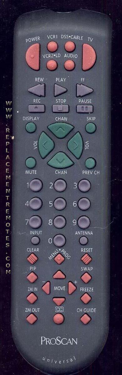 Proscan-RCA CRK83D1 TV Remote Control