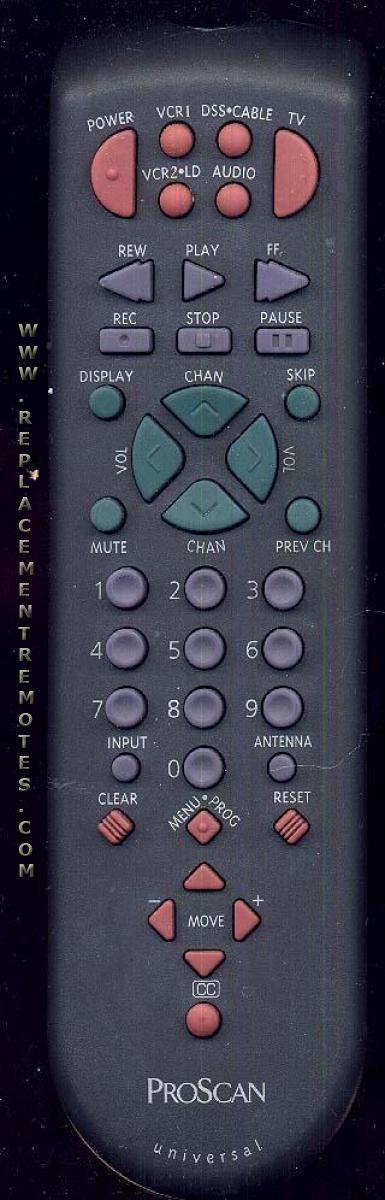 Proscan-RCA CRK83F1 TV Remote Control