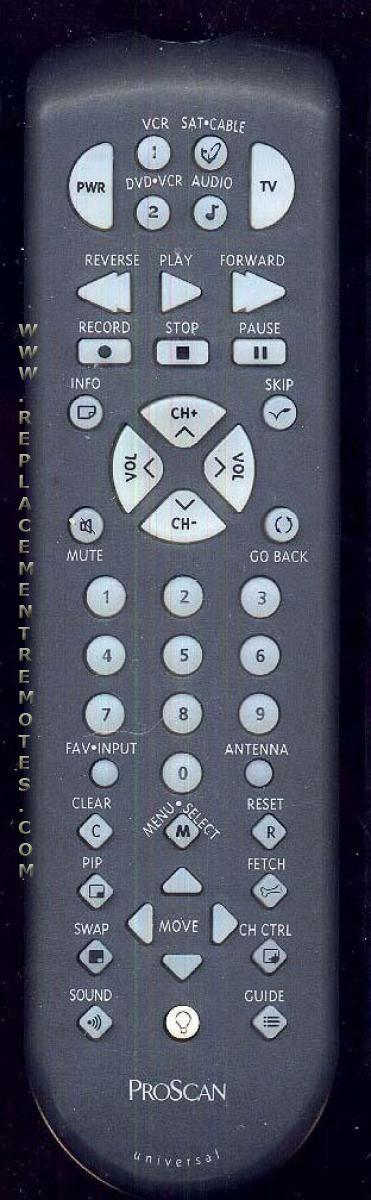 Proscan-RCA CRK83KL1 TV Remote Control