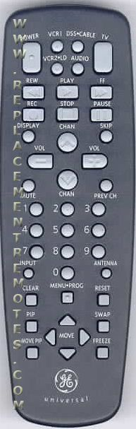GE General Electric 31GT671 Remote Control