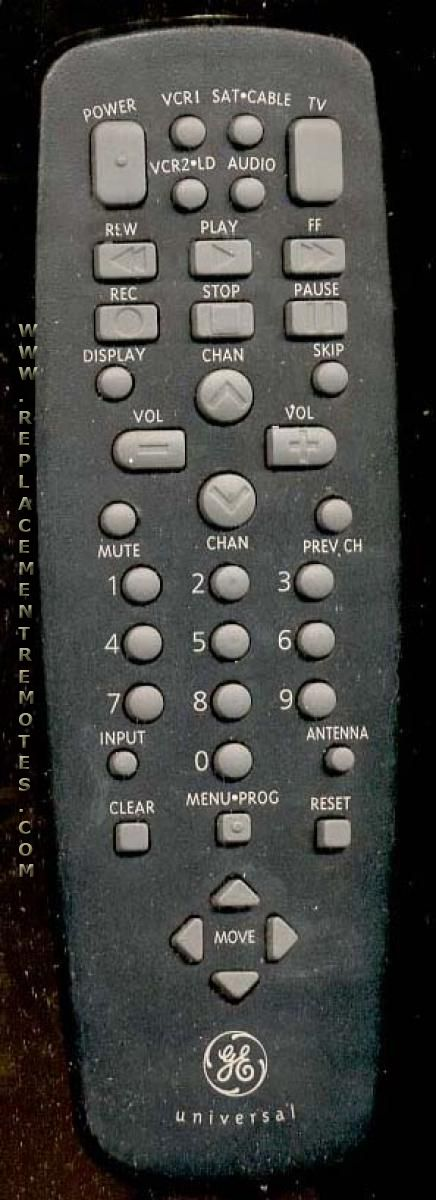 GE General Electric CRK84B2 TV Remote Control