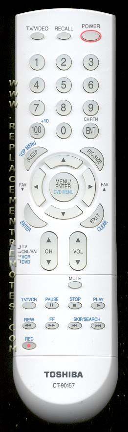 TOSHIBA CT90157 TV Remote Control ...