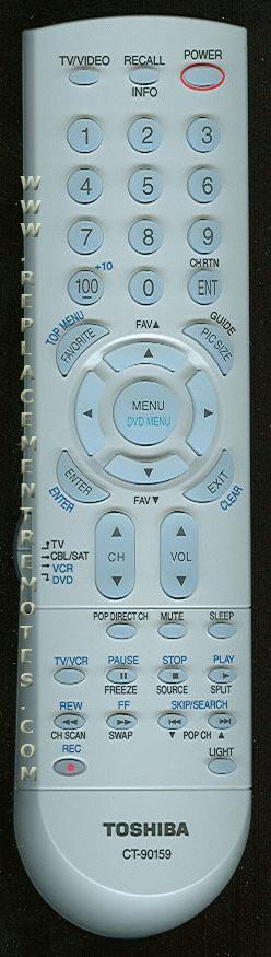 TOSHIBA CT90159 TV Remote Control