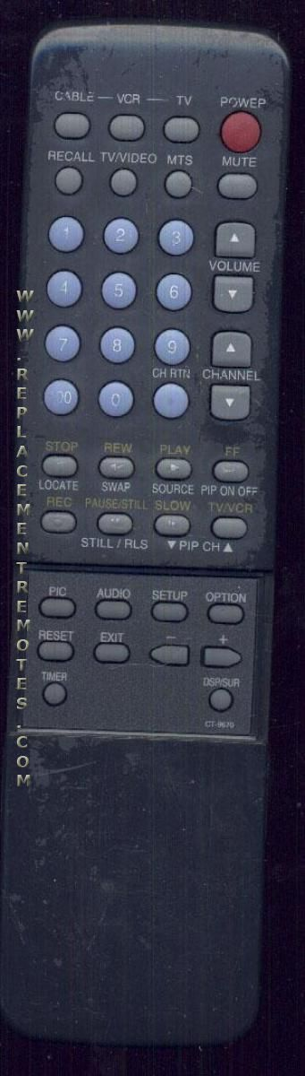 TOSHIBA CT9670 TV Remote Control