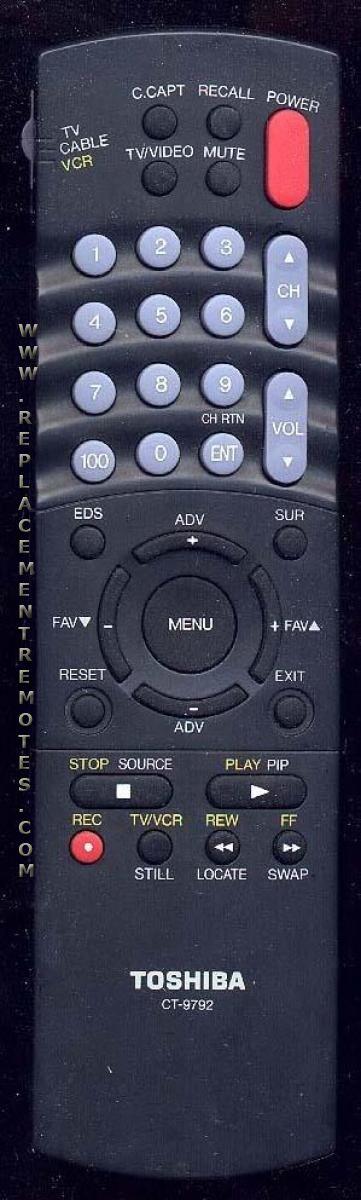 TOSHIBA CT9792 Remote Control