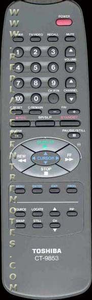 TOSHIBA CT9853 Remote Control