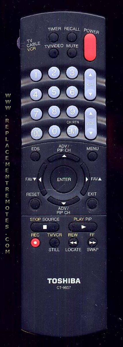TOSHIBA CT9857 Remote Control
