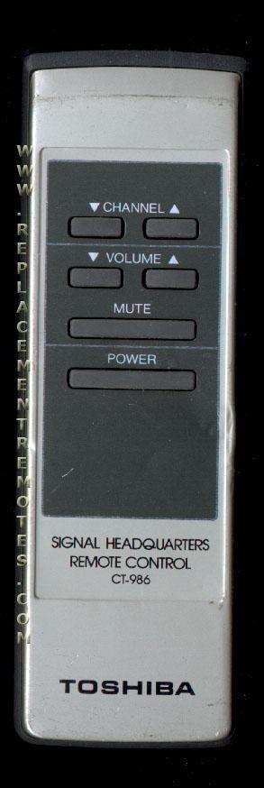 TOSHIBA CT986 Remote Control