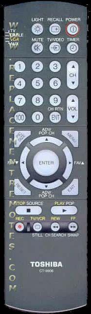 TOSHIBA CT9906 Remote Control