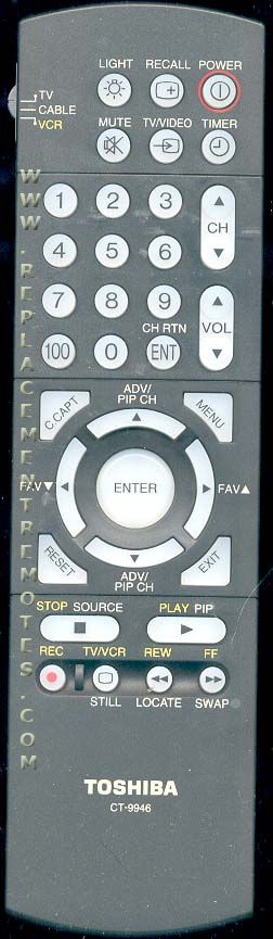 TOSHIBA CT9946 TV Remote Control