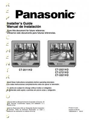 Buy Panasonic Ct2511hdom Ct2511hd Ct2521hd Ct2721hd