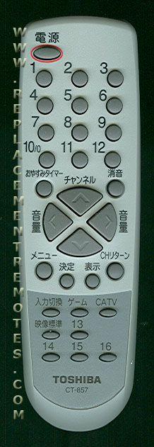 TOSHIBA CT857 Remote Control