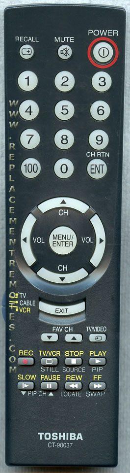 TOSHIBA CT90037 TV Remote Control