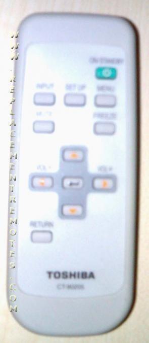 Toshiba Computer CT90205 Projector Remote Control