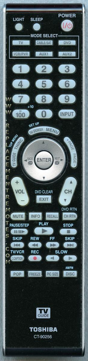 TOSHIBA CT90256 TV Remote Control