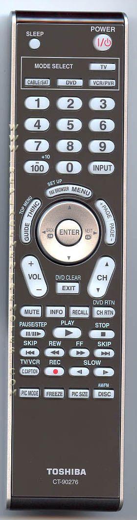 TOSHIBA CT90276 TV Remote Control