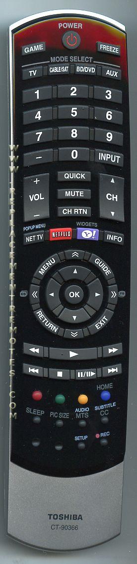 cable tv remote buy toshiba ct 90366 ct90366 75022763 tv remote control