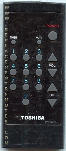 TOSHIBA CT9172 Remote Control