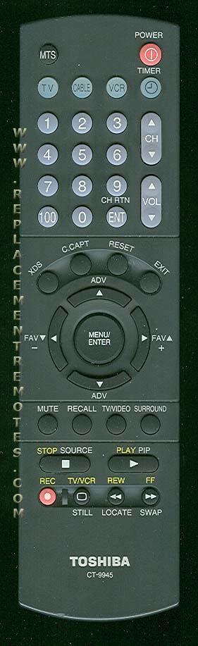 TOSHIBA CT9945 TV Remote Control