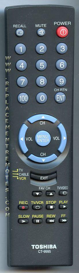TOSHIBA CT9995 TV Remote Control