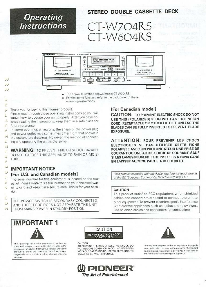 pioneer radios manuals