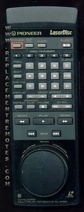 PIONEER CUCLD083 Remote Control