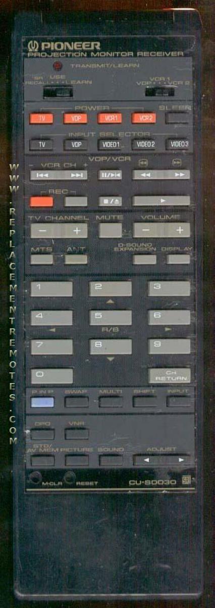 PIONEER CUSD030 Remote Control