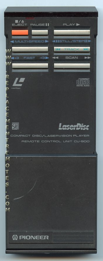 PIONEER CU900 Laser Disc Player Remote Control