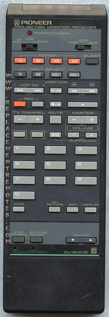 PIONEER CUSD015 Remote Control