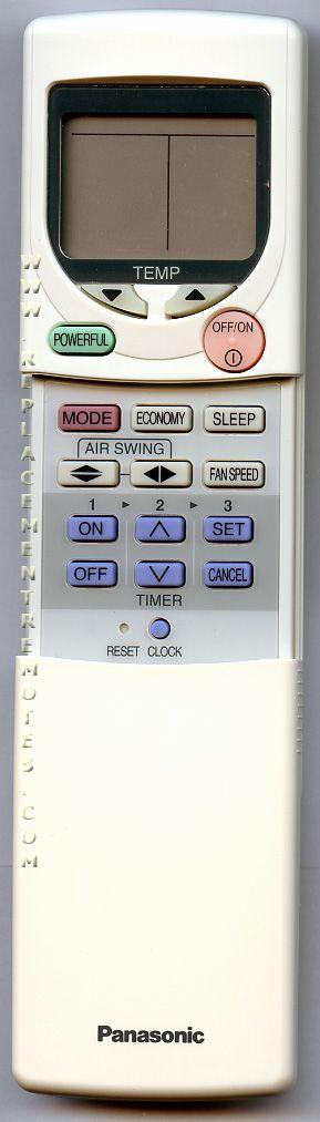 Panasonic A75C2352 Air Conditioner Unit Remote Control