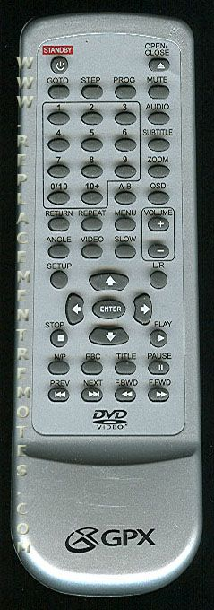 Buy Gpx D1816sil D2816 Portable Dvd Player Remote Control