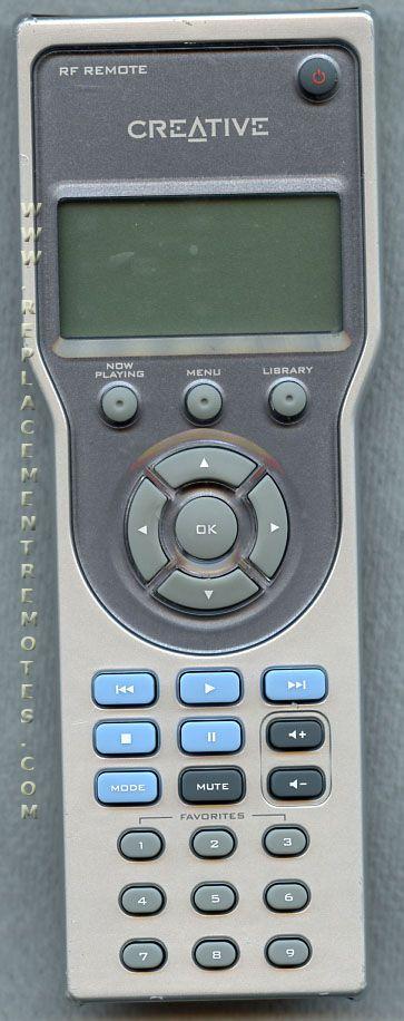 Creative DAARF0001 Remote Control