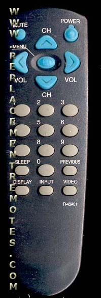 DAEWOO R38T01 TV Remote Control