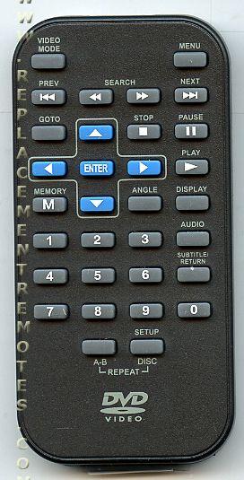 RCA DRC6289 BLUE Portable DVD Player Remote Control
