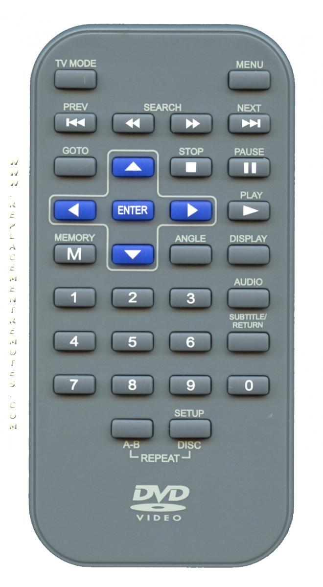 RCA DRC6318E Portable DVD Player Remote Control