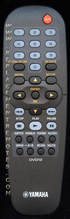 YAMAHA DVD13 DVD Player Remote Control