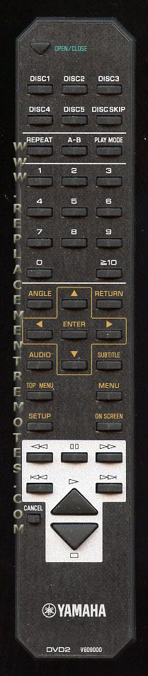 YAMAHA DVD2 Audio System Remote Control