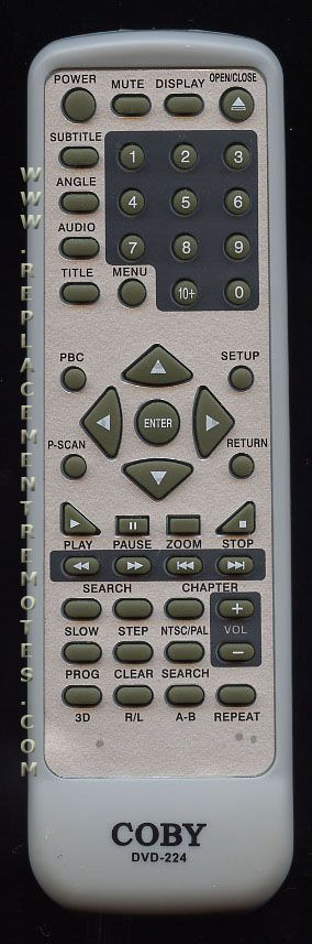 Buy Coby Dvd 224 Dvd224 Dvd Player Remote Control
