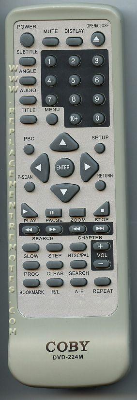 buy coby dvd224m dvd player remote control rh replacementremotes com Coby DVD 224 Remote Code Coby DVD938