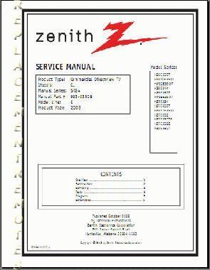 ZENITH E-LineOM Operating Manual
