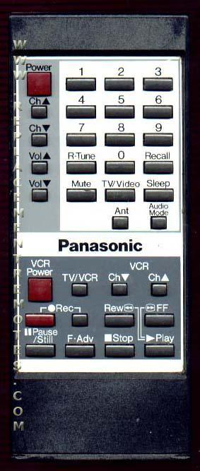 Panasonic EUR50423 TV/VCR Combo Remote Control