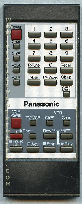 Panasonic EUR50424 TV/VCR Combo Remote Control