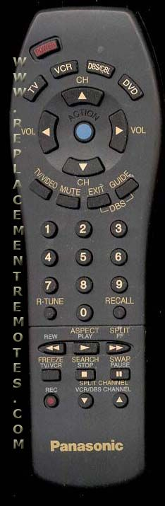 Panasonic EUR511517 TV Remote Control