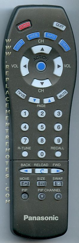 Panasonic EUR511518 Remote Control