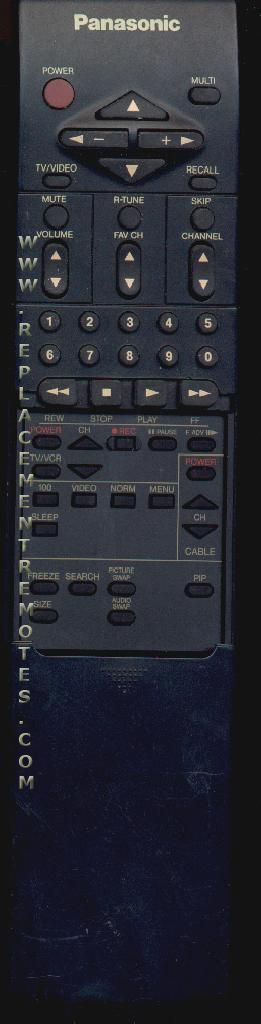 Panasonic EUR51703 Remote Control
