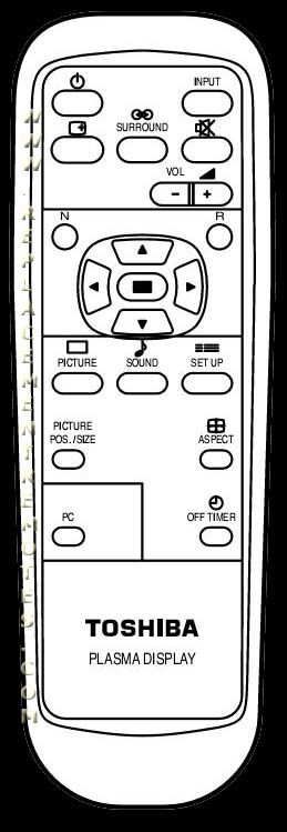 TOSHIBA EUR646527 Remote Control
