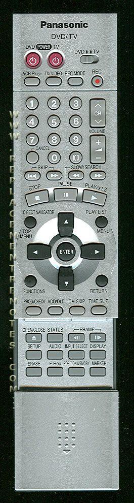 Panasonic EUR7615KN0 TV/DVD Combo Remote Control