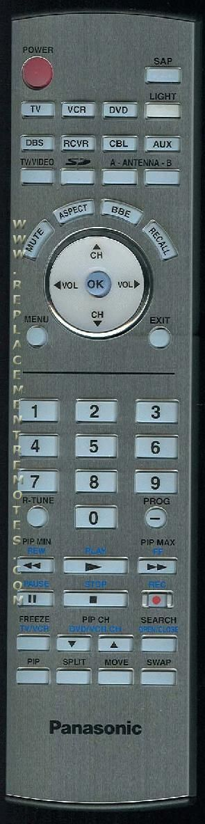 Panasonic EUR7627Z10 TV Remote Control