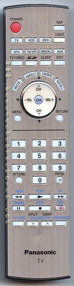 Panasonic EUR7627Z70 TV Remote Control