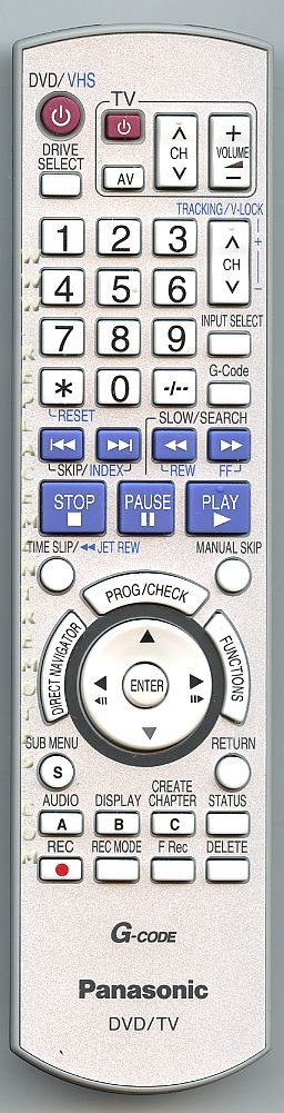 Panasonic EUR7659YJ0 Remote Control